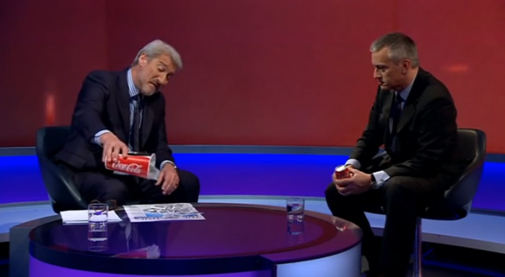 On Live TV BBC Journalist Shows Coca-Cola President How Much Sugar Is In Their Drink 86