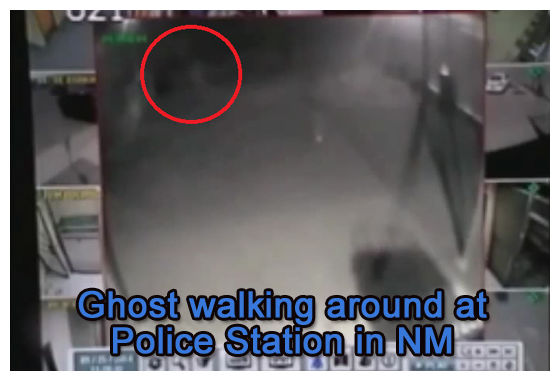 Ghost walking outside of police station in New Mexico caught on CCTV 23