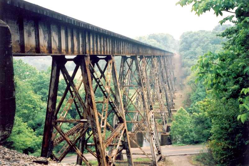 Pope Lick Bridge and train trestle