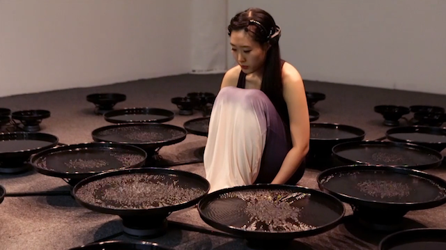 Artist Manipulates 48 Pools of Water with Her Mind 21