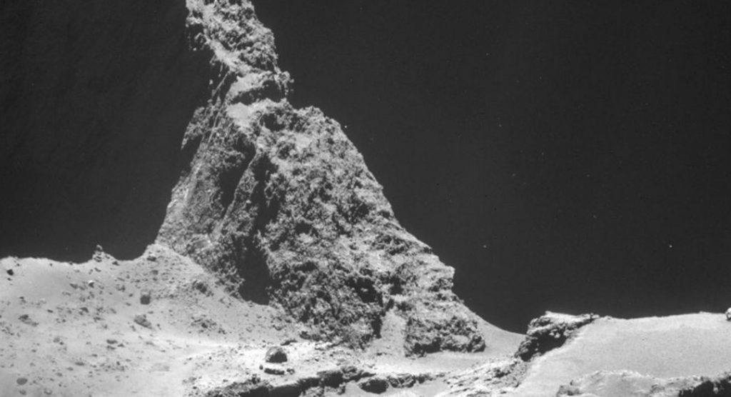Strange crackling sounds have come from inside the comet (Picture: ESA)