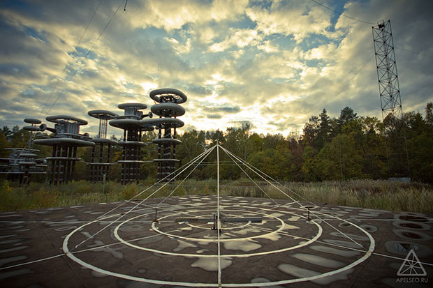 Electrifying: Giant futuristic 'Tesla Tower' in abandoned woods near Moscow 1