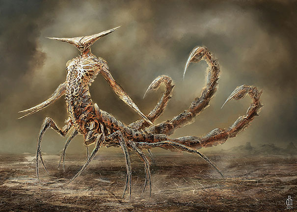 Artist Recreates Zodiac Signs As Vicious Monsters 14
