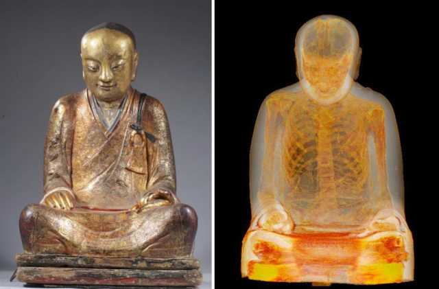 CT Scan Of 1,000-Year-Old Buddha Statue Reveals Mummified Monk Hidden Inside 91