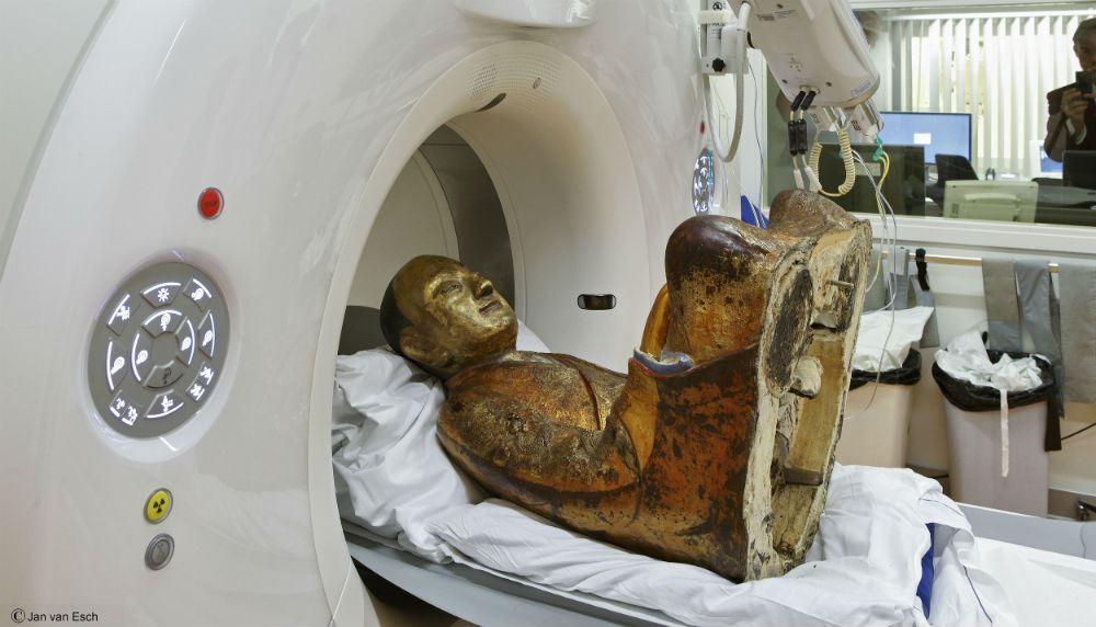 CT Scan Of 1,000-Year-Old Buddha Statue Reveals Mummified Monk Hidden Inside 4