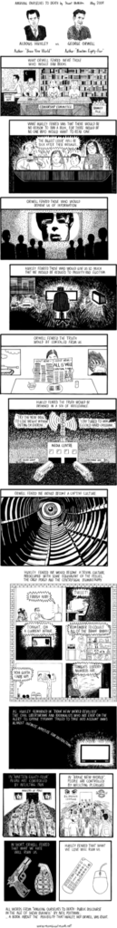 Huxley vs Orwell on the future of Mankind 4
