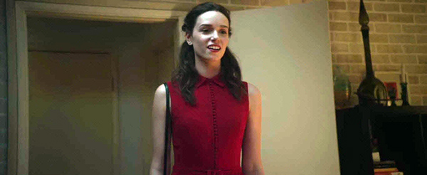 In the occult elite's color codes, the red dress signifies turmoil, metamorphosis and sacrifice. The dress indicates that this meeting is another step in her initiation.