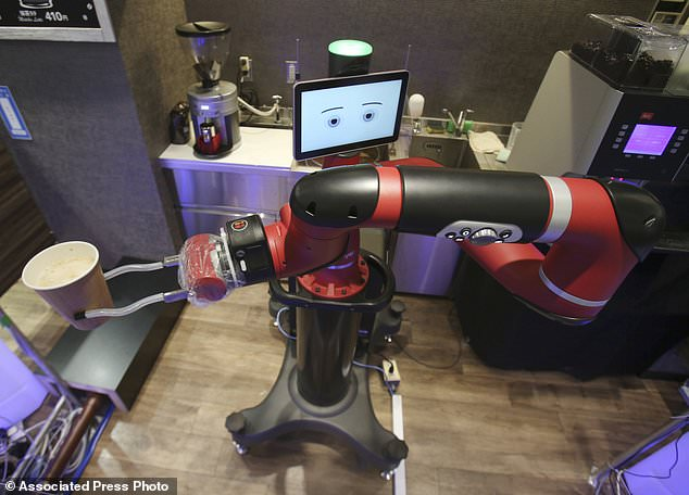 One-armed barista robot begins serving coffee at new cafe in Japan's capital 97