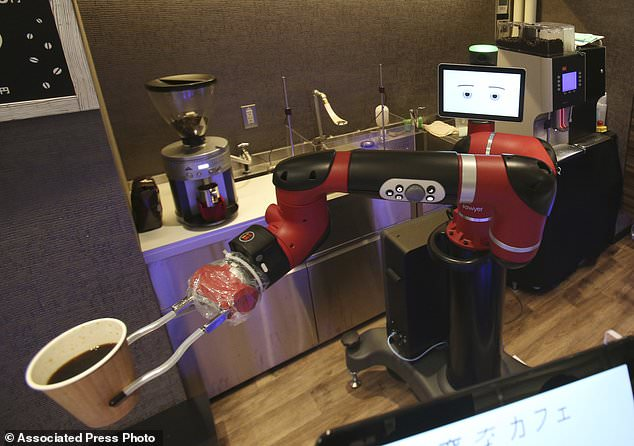 One-armed barista robot begins serving coffee at new cafe in Japan's capital 98
