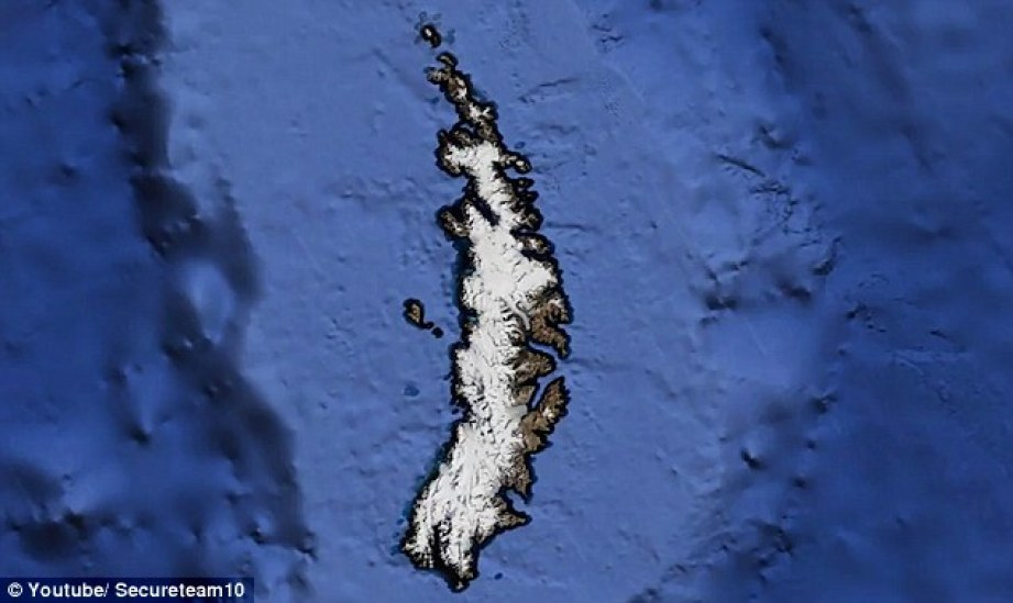 Alien hunters are convinced a mysterious object spotted on Google Earth on a remote island is a crash-landed spaceship 96