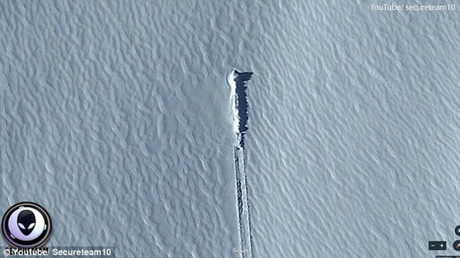 Alien hunters are convinced a mysterious object spotted on Google Earth on a remote island is a crash-landed spaceship 94