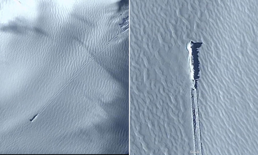 Alien hunters are convinced a mysterious object spotted on Google Earth on a remote island is a crash-landed spaceship 9