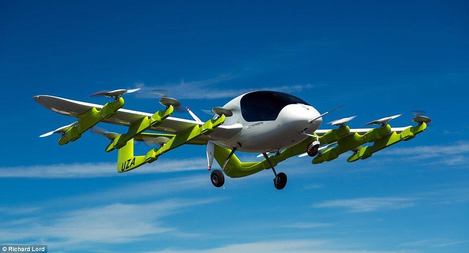 Larry Page's pilotless flying car unveiled 92