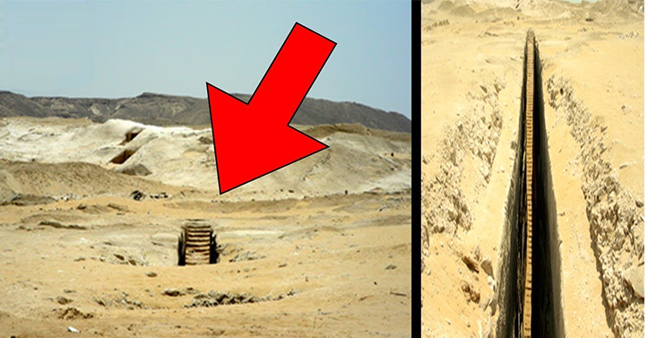 Mysterious Staircase Found In Giza Plateau? 1
