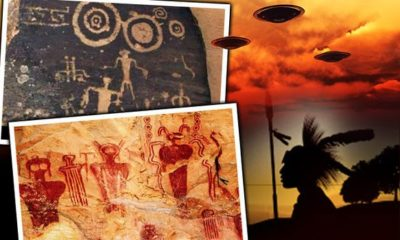 Apache Indian Cave Paintings Show UFOs and ETs, Is it Proof Ancient Aliens Visited Earth? 129