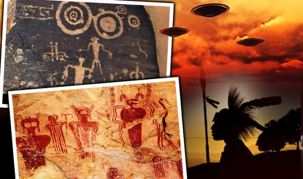 Apache Indian Cave Paintings Show UFOs and ETs, Is it Proof Ancient Aliens Visited Earth? 1