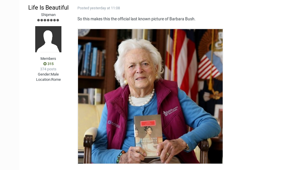 This Website Exactly Predicted the Death of Barbara Bush, Stephen Hawkings 13