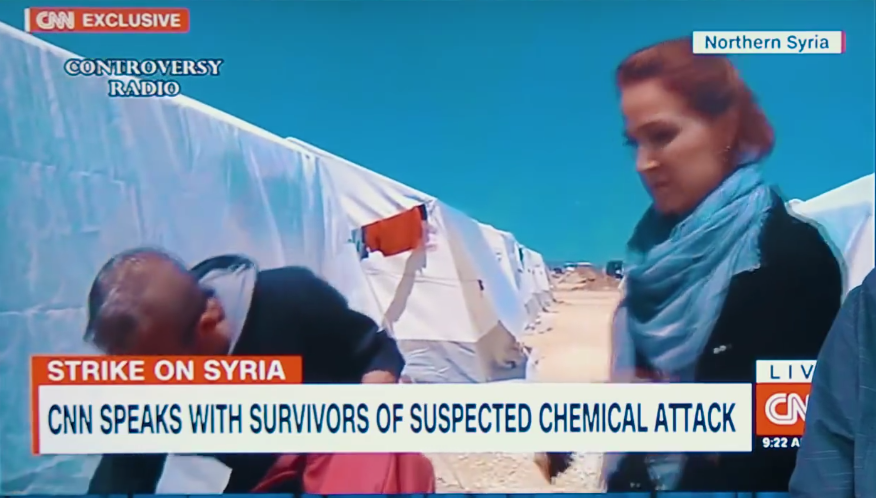 "CNN Reporter Takes a Huge Sniff of ""Poison"" on Air 94"