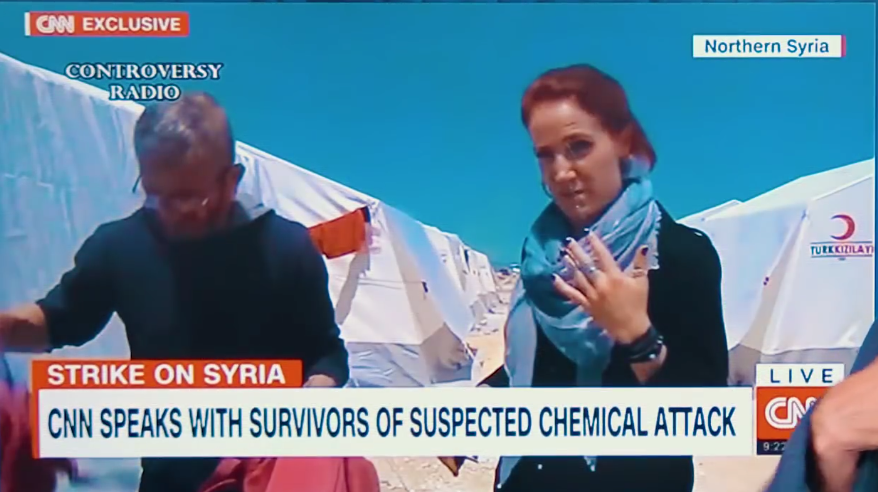 "CNN Reporter Takes a Huge Sniff of ""Poison"" on Air 95"