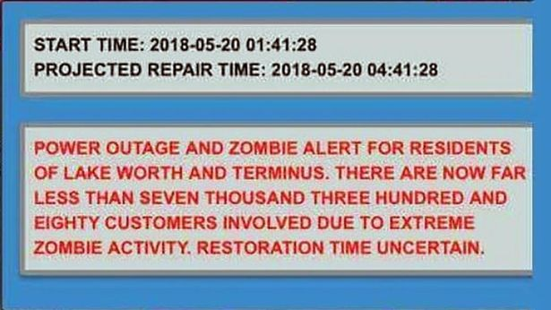 People receive alarming 'zombie warning' text during power black-out - 95