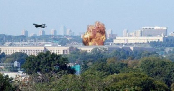 9/11 Entire Pentagon With Missile Impact 9