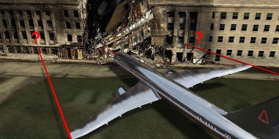 9/11 Entire Pentagon With Missile Impact 12