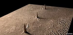 Three Artificial Towers Found In A Row On Mars 92