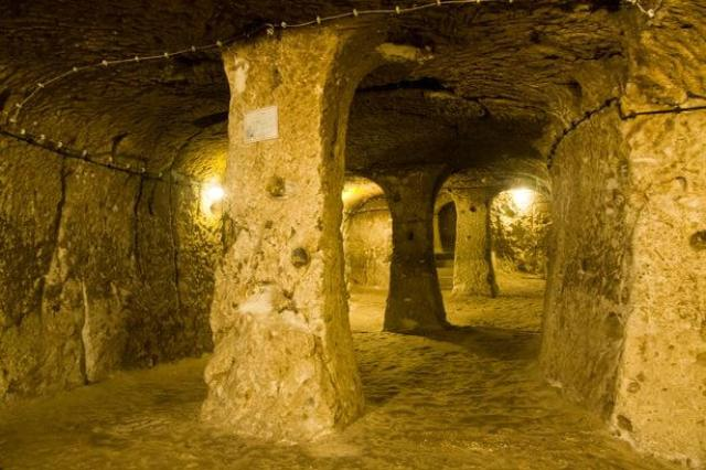 Incredible Byzantine underground city in Turkey that runs 18 storeys deep discovered by local who was renovating his home 107