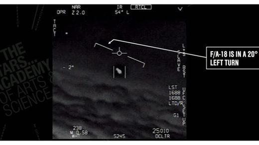 (This image is from U.S. military footage Gimbal UFO incident.