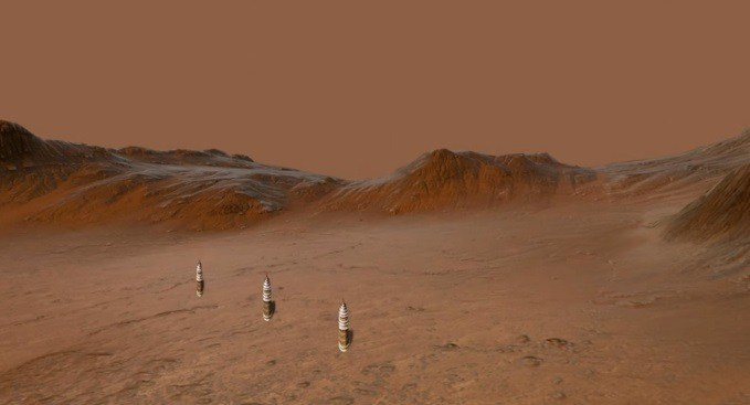 Three Artificial Towers Found In A Row On Mars 38