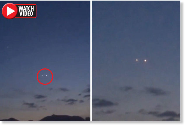 Are these UFOs? Eerie videos showing mysterious lights over Chongqing, China 1