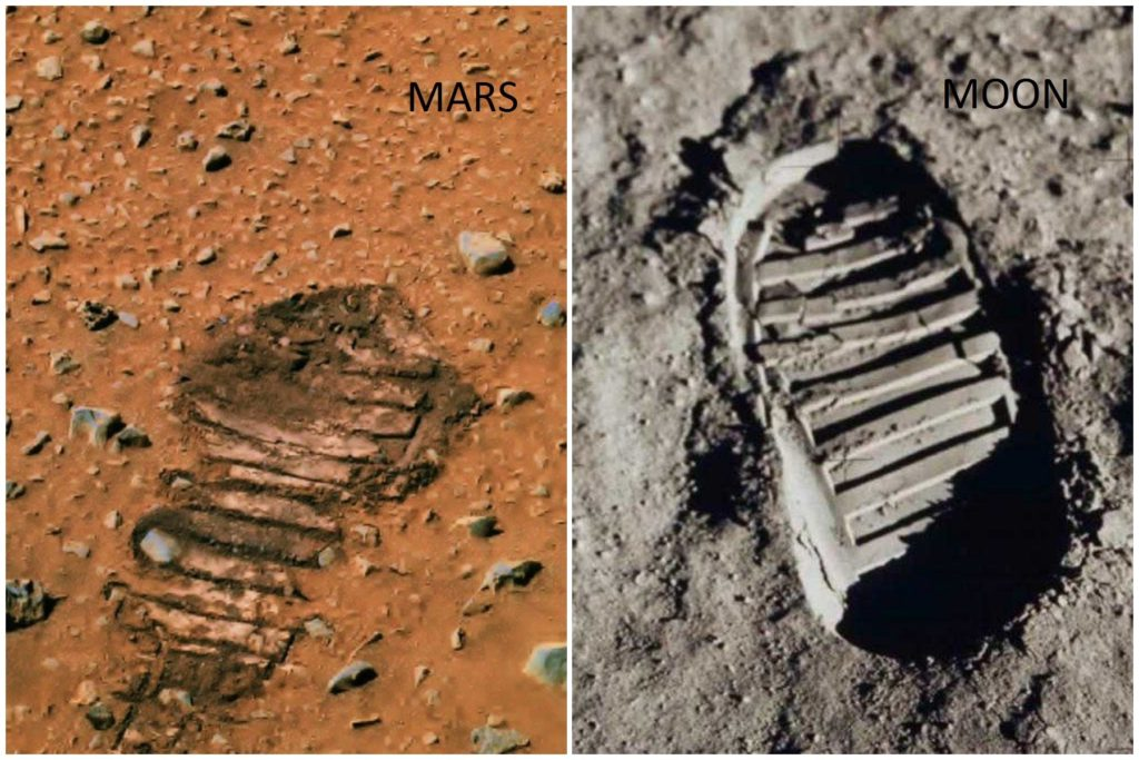Shocking Footprint Found On Mars Shows Astronauts Visited This Planet 5