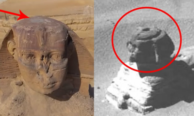 There is a hole in the Sphinx's head and it is now Covered Up 89