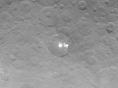 These high-resolution images show Ceres' mysterious bright spots. NASA/JPL-Caltech/UCLA/MPS/DLR/IDA