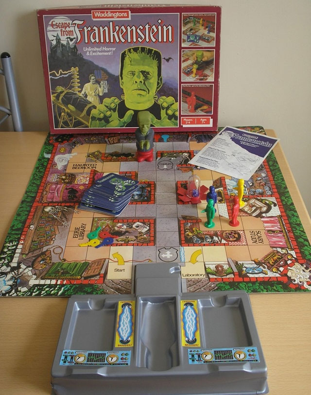 Escape from Frankenstein vintage game