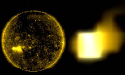 NASA Images shows a huge cube shaped UFO approaching the sun 93