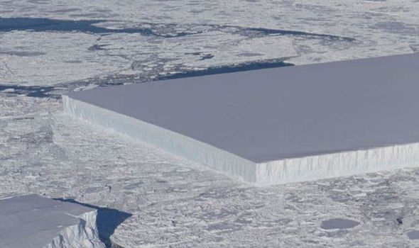 NASA scientists BAFFLED by perfectly rectangular MILE-WIDE iceberg 88