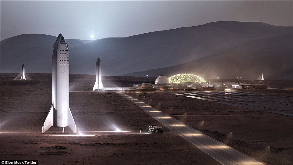 Elon Musk shows off plans for a Mars outpost and says it could be complete by 2028 5