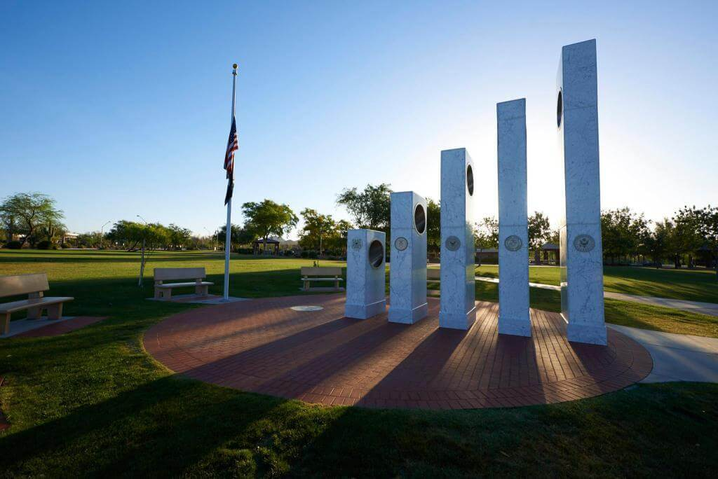 Once a Year at 11:11 am the Sun Shines Perfectly on this Memorial 104