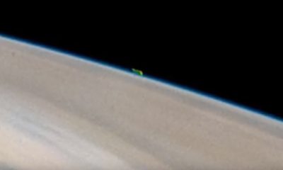 Mysterious green object spotted just above the surface of Jupiter 99