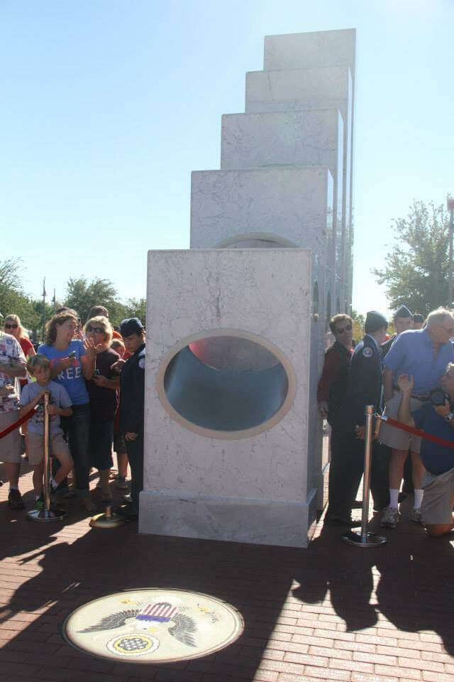 Once a Year at 11:11 am the Sun Shines Perfectly on this Memorial 24