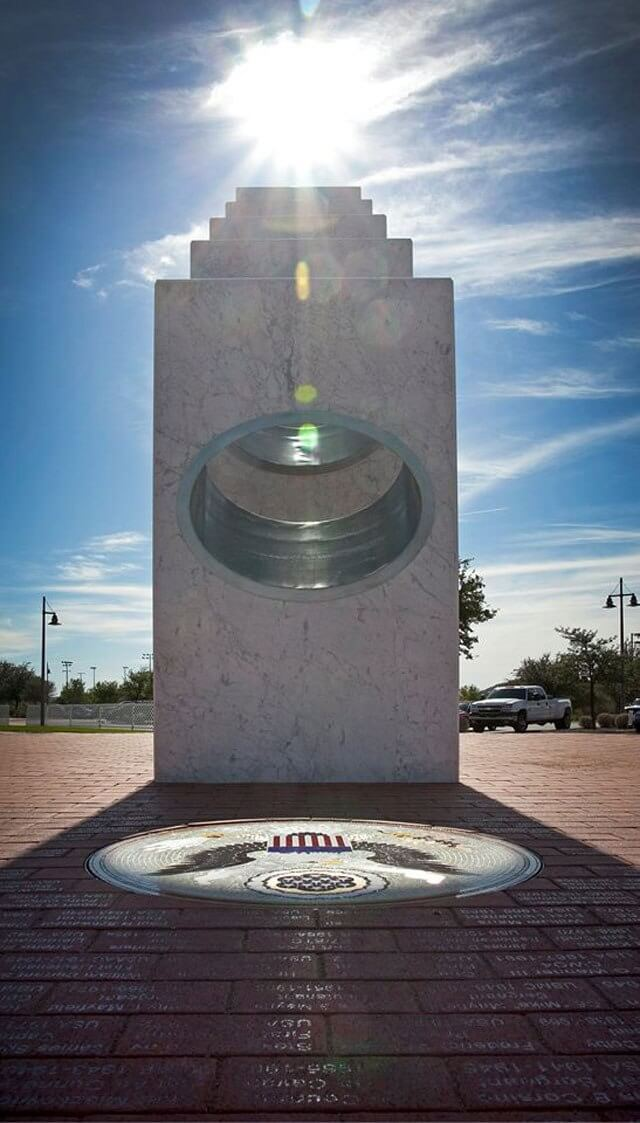 Once a Year at 11:11 am the Sun Shines Perfectly on this Memorial 110