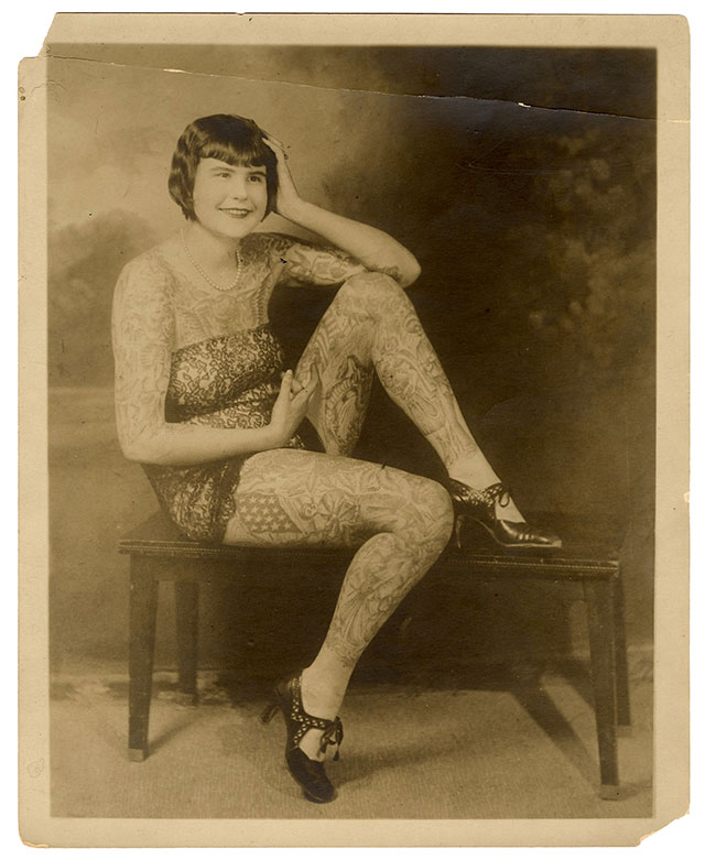 Betty Broadbent tattooed lady