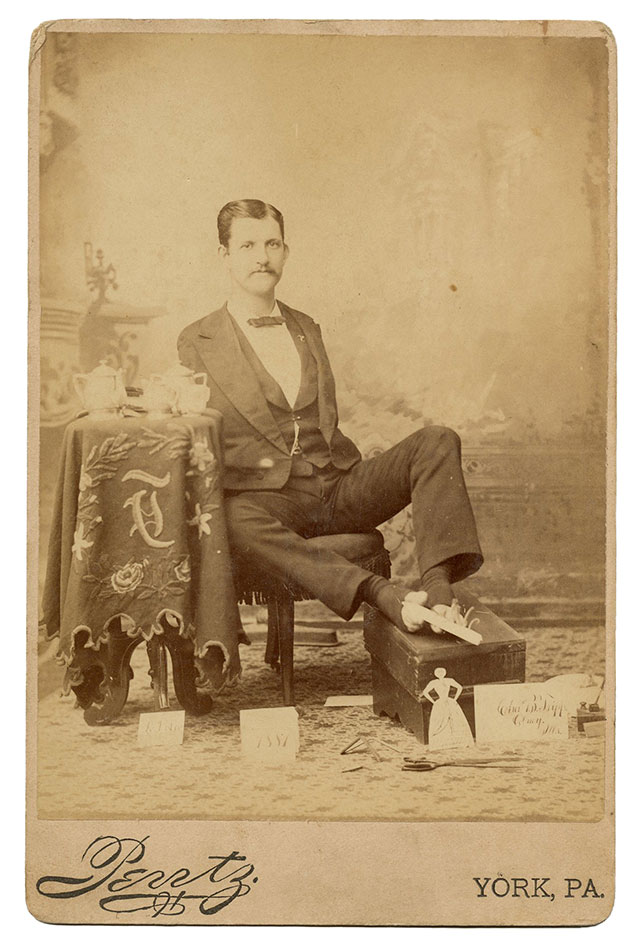 Sideshow performer Charles B. Tripp, the Armless Wonder