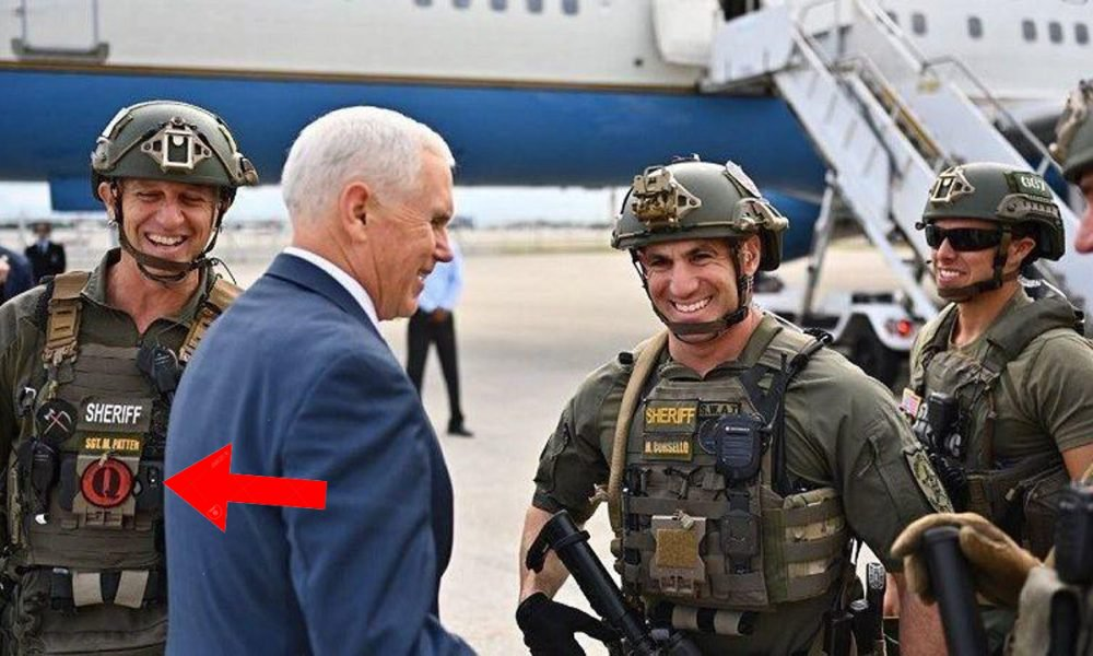 The Deputy Who Wore A Qanon Patch When Meeting VP Pence Has Been Demoted 88