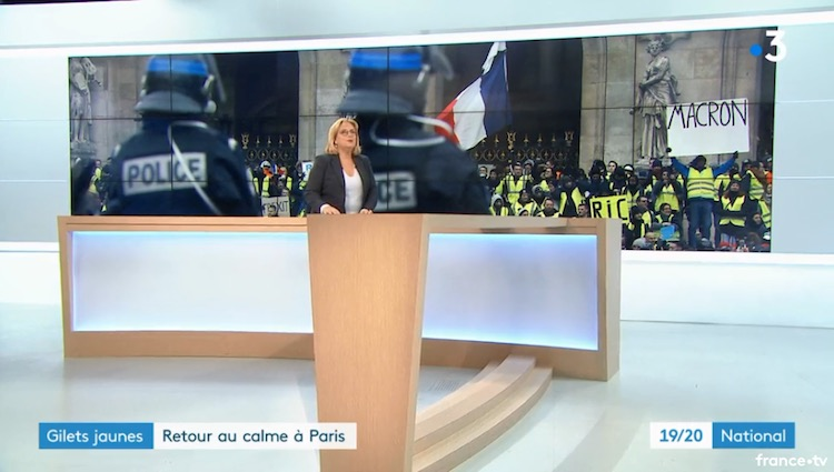 French Media Caught Doctoring Images of Yellow Vest Protestors for Televised News 7