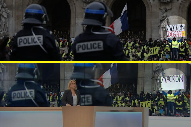 French Media Caught Doctoring Images of Yellow Vest Protestors for Televised News 5
