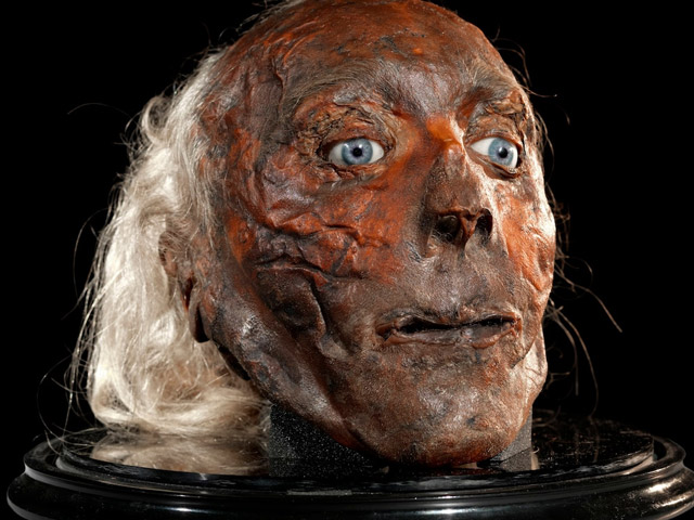 The remains of Jeremy Bentham came to America