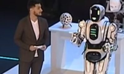 'Dancing robot' turns out to be a man in a suit 89