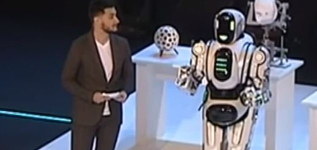 'Dancing robot' turns out to be a man in a suit 10